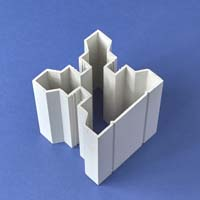 PVC square section